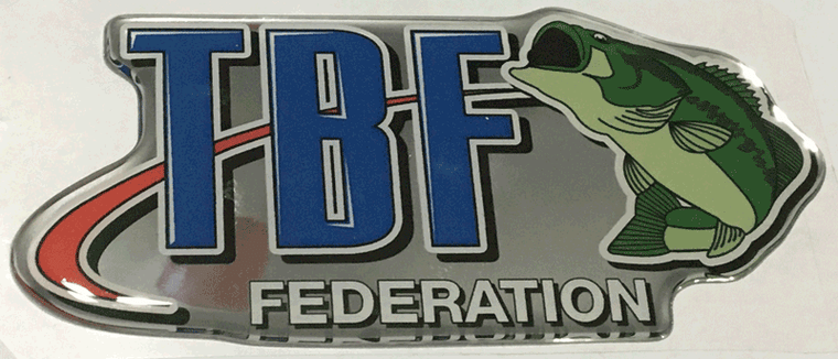 TBF domed decal top of the line with chrome background.