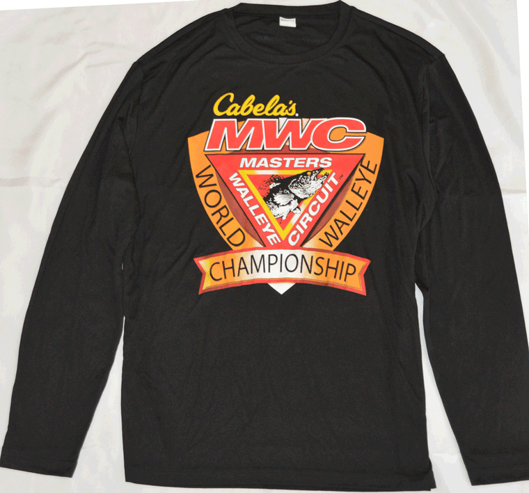Masters Walleye Circuit (MWC) World Walleye Championship Long Sleeve Performance Tee Front