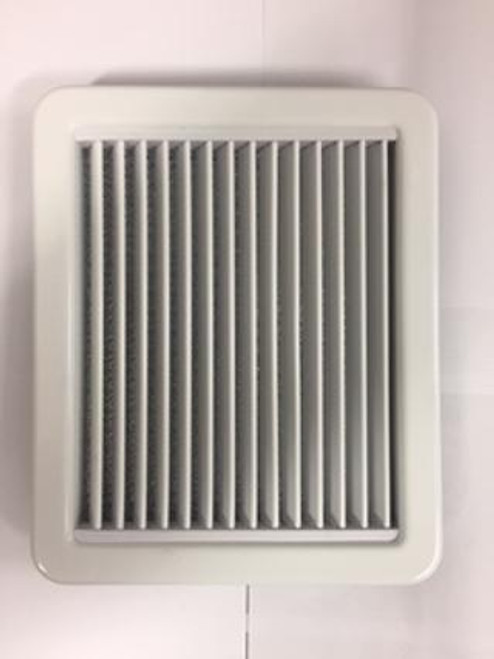 Marine air conditioning white plastic return air grille. Other sizes and finishes available. If you don't see the size you need please email/call.