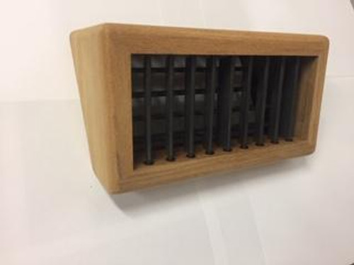 Marine air conditioning teak wedge supply air grille. Other sizes and finishes available. If you don't see the size you need please email/call
