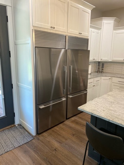 Fisher Paykel Double refrigerator with trim kit installed
