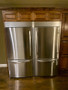 Double refrigerators with trim kit installed