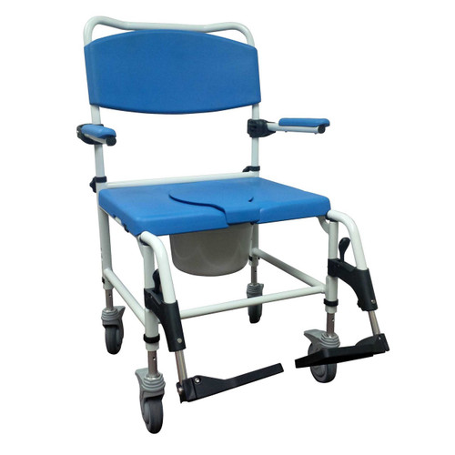 Bariatric Shower Commode Chair, Bariatric Shower Chair with Wheels, Bariatric Rolling Shower Chair