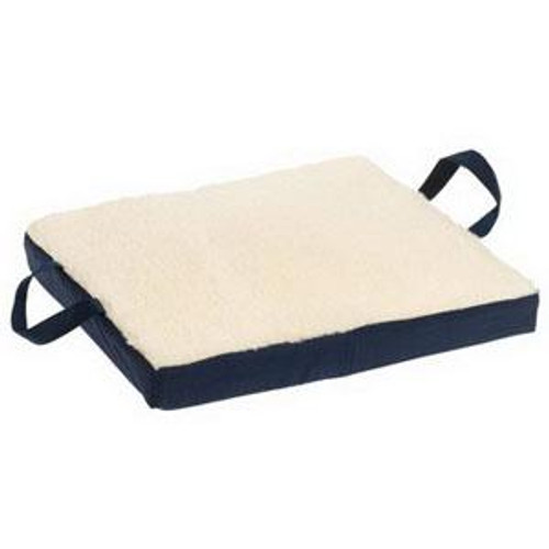 Mabis DMI healthcare Gel/Foam Flotation Cushion with Cream Fleece Cover