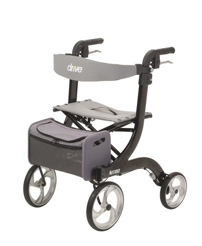 Nitro Euro Style Black Rollator Walker - rtl10266bk | Free Shipping, Quick Delivery