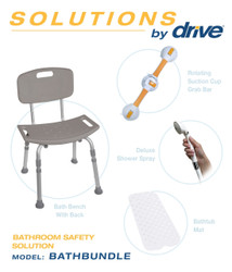 Shower Chair & Grab Bar Bath Safety Bundle