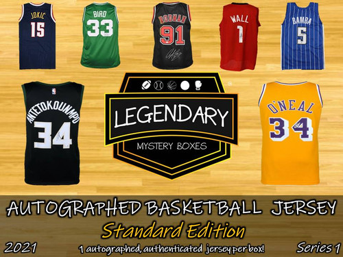 SHIPS 6/1: Legendary Mystery Boxes Autographed Basketball Jersey - Standard Edition 2021 Series 1 Hobby Box