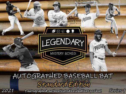 SHIPS 6/1: Legendary Mystery Boxes Autographed Baseball Bat - Standard Edition 2021 Series 1 Hobby Box