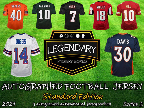 Legendary Mystery Boxes Autographed Football Jersey - Standard Edition 2021 Series 2 Hobby Box
