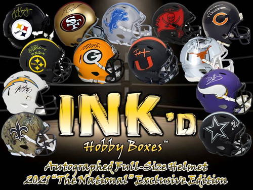 """INK'd Autographed Full-Size Helmet - 2021 """"The National"""" Exclusive Edition Hobby Box"""