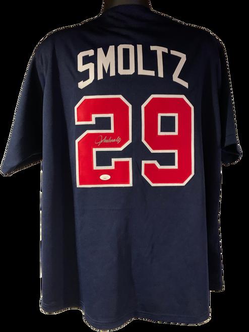 John Smoltz Authentic Autographed Atlanta Braves Custom Jersey - JSA COA