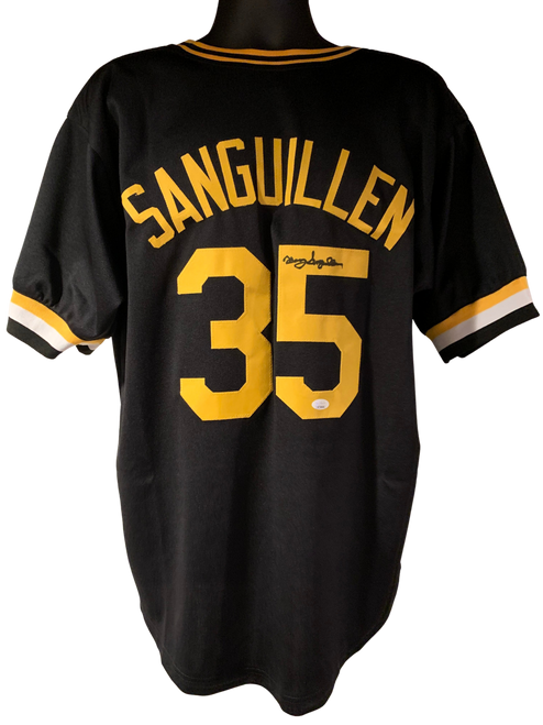 Manny Sanguillen Authentic Autographed Pittsburgh Pirates Yellow Custom Jersey - JSA COA