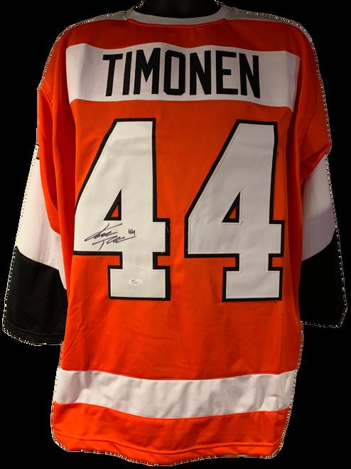 Kimmo Timonen Authentic Autographed Philadelphia Flyers Orange Custom Jersey - JSA COA