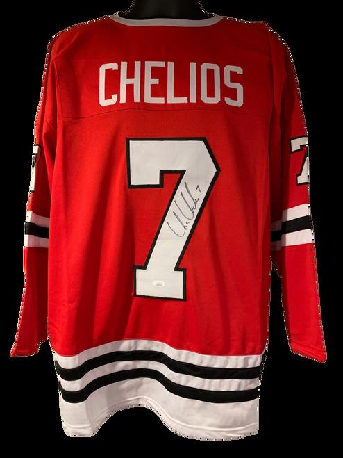Chris Chelios Authentic Autographed Chicago Blackhawks Red Custom Jersey - JSA COA