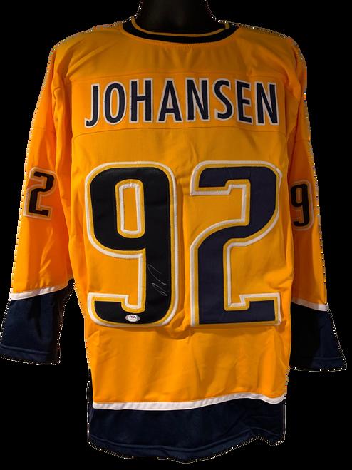 Ryan Johansen Authentic Autographed Nashville Predators Yellow Custom Jersey - PSA COA