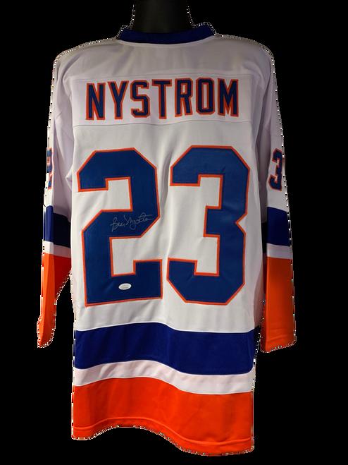 Bobby Nystrom Authentic Autographed New York Islanders White Custom Jersey - JSA COA