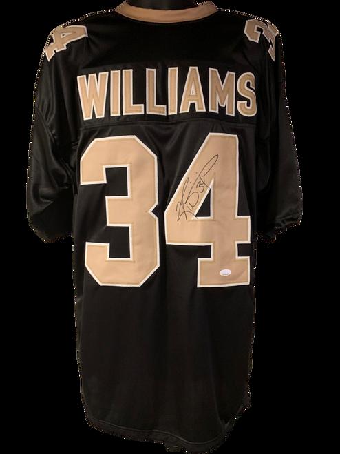 Ricky Williams Authentic Autographed New Orleans Saints Black Custom Jersey - JSA COA