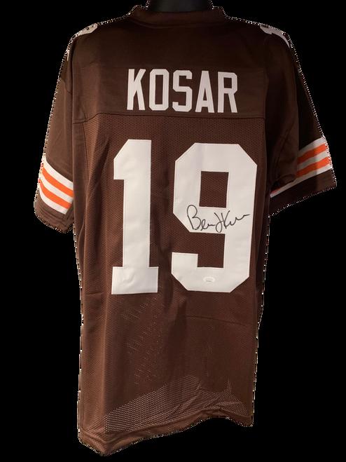 Bernie Kosar Authentic Autographed Cleveland Browns Brown Custom Jersey - JSA COA