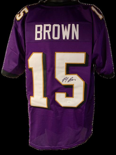 Marquise Brown Authentic Autographed Baltimore Ravens Purple Custom Jersey - JSA COA