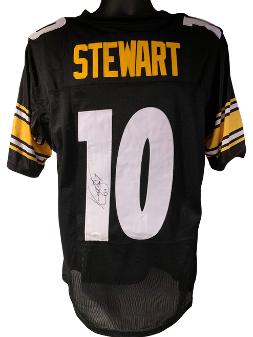Kordell Stewart Authentic Autographed Pittsburgh Steelers Black Custom Jersey - JSA COA
