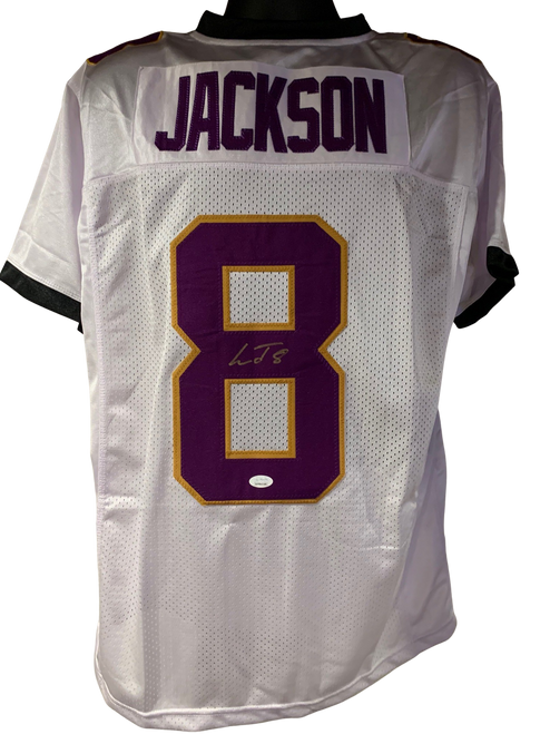 Lamar Jackson Authentic Autographed Baltimore Ravens White Custom Jersey - JSA COA