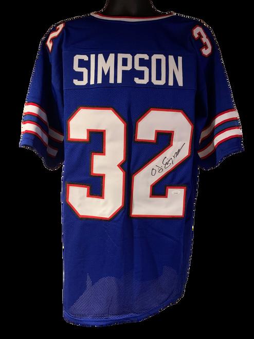 OJ Simpson Authentic Autographed Buffalo Bills Blue Custom Jersey - JSA COA