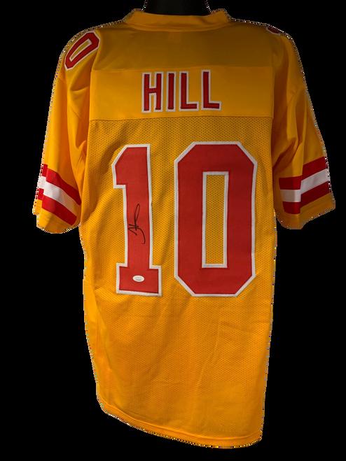 Tyreek Hill Authentic Autographed Kansas City Chiefs Yellow Custom Jersey - JSA COA