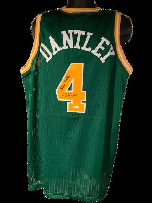 "Adrian Dantley Authentic Autographed Utah Jazz Green Custom Jersey w/ ""HOF 2008"" - JSA COA"