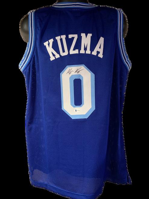 Kyle Kuzma Authentic Autographed Los Angeles Lakers Blue Custom Jersey - Beckett COA
