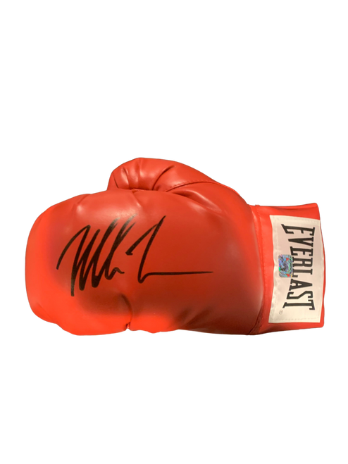 Mike Tyson Authentic Autographed Red Everlast Boxing Glove - Tyson COA