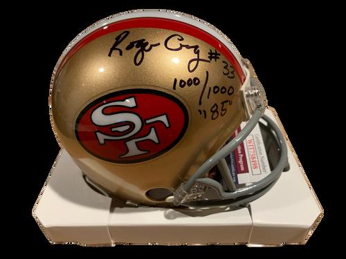 Roger Craig Authentic Autographed San Francisco 49ers Mini Helmet w/ Inscriptions - JSA COA