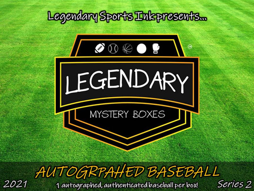 Legendary Mystery Boxes Autographed Baseball - Standard Edition 2021 Series 2 Hobby Box