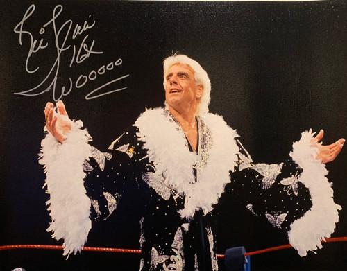 """Ric Flair Authentic Autographed 18"""" x 24"""" Robe Canvas w/ Inscriptions- PSA COA"""