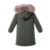 Boy Hooted Winter Jacket - Green Color