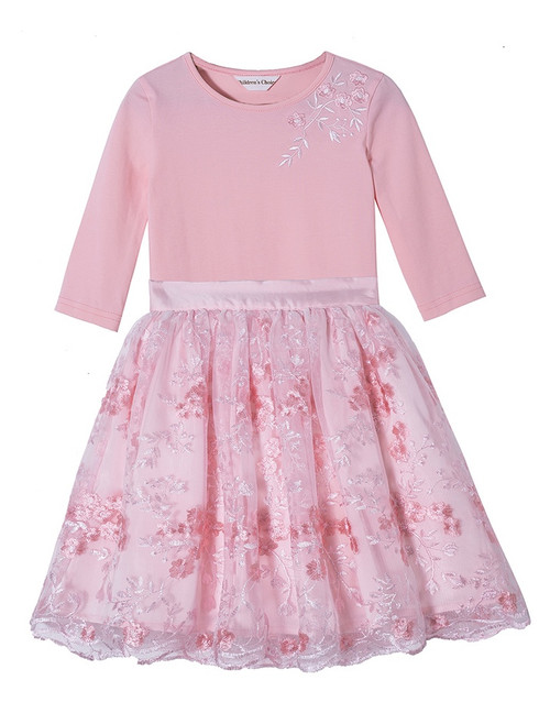 Asma Pink Lace Skirt Set