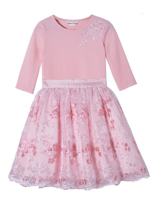 Asma Pink Lace Skirt Set