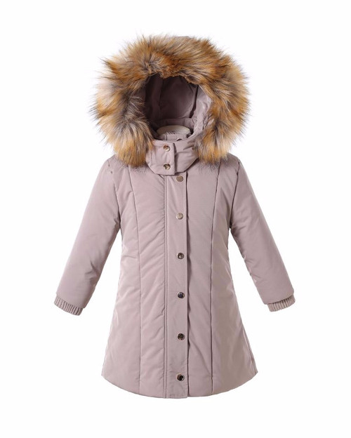 Girls Cozy-Lined Parka- Paige color