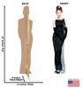 Audrey Hepburn (Breakfast at Tiffany's) Cardboard Cutout with back and front dimensions.