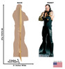 Life-size Undertaker Cardboard Standup with model.