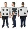 3D Dice cardboard costume.
