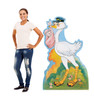 Life-size Stork with Baby Girl Cardboard Standup with Model.