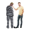 Life-size Prisoner in Striped Suit with Ball and Chain Cardboard Standup