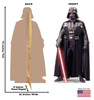 Darth Vader Cardboard Cutout front and back view