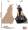Italy Gondola Ride Cardboard Cutout 1858
