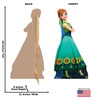 Anna - Frozen Fever - Cardboard Cutout Front and Back View