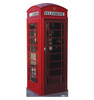 Life-size English Phone Booth Cardboard Standup