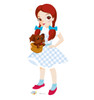 Life-size Dorothy and Toto - Wizard of Oz Kids Cardboard Standup