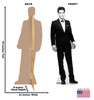 Elvis Black Tuxedo - Talking Cardboard Cutout 377T front and back view