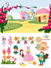 """Life-size Munchkinland Activity Set Large (36"""" x 48"""") Wall Decal"""