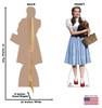 Dorothy from the Wizard of Oz Holding Toto - Life size cardboard cutout with dimensions